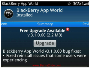 BlackBerry Appworld Updated